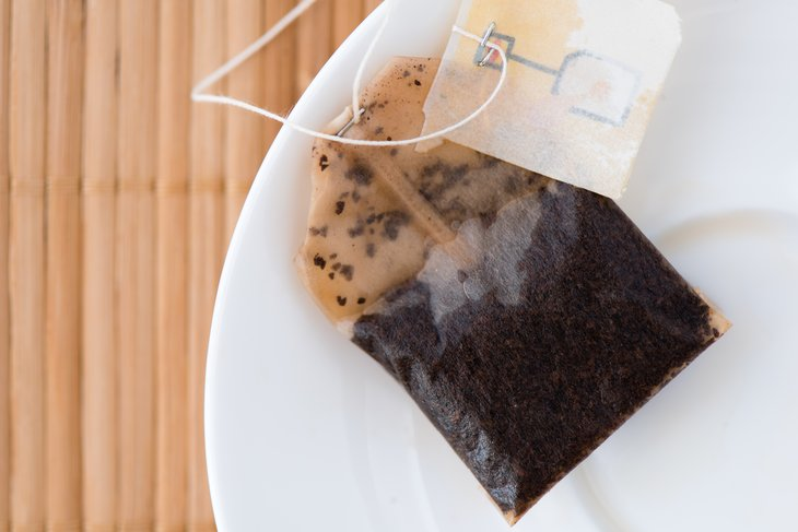 Teabag on a plate