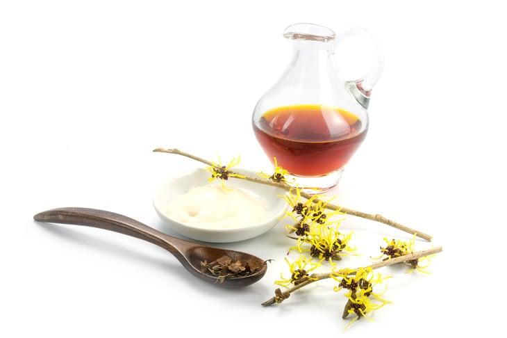 Witch hazel flower and cream
