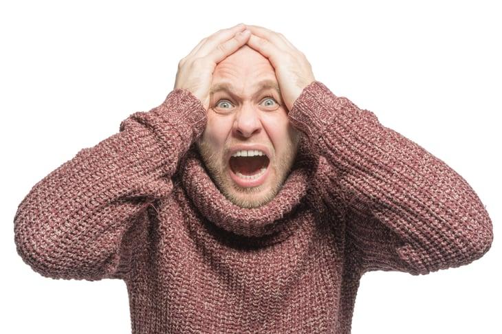 Man Panicking