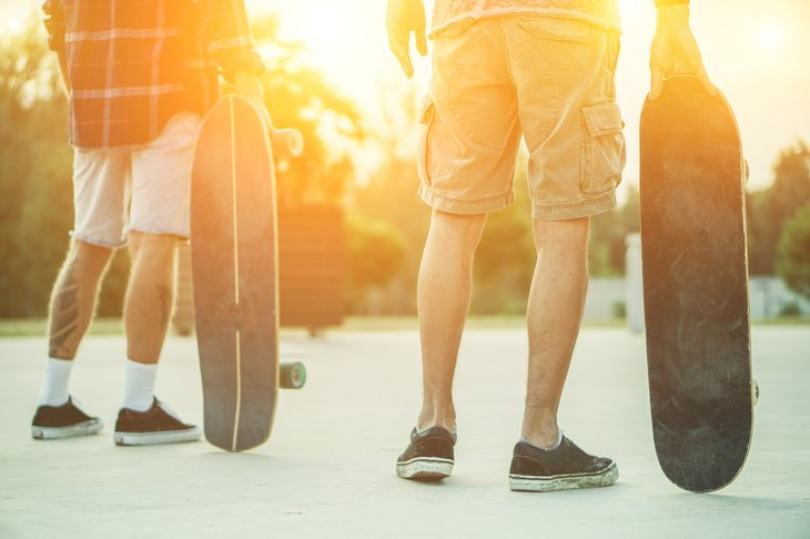 Torn cut-offs might be fine for skate boarding, but won't necessarily do the job when you need something to wear to work on a hot day.