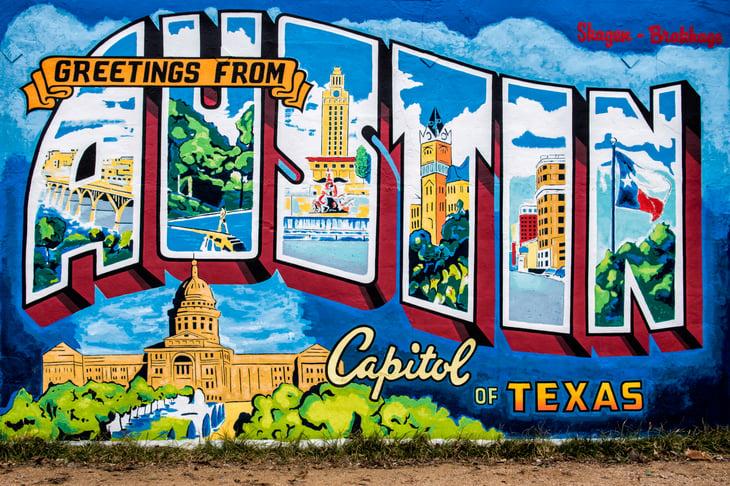 Mural of Austin, Texas