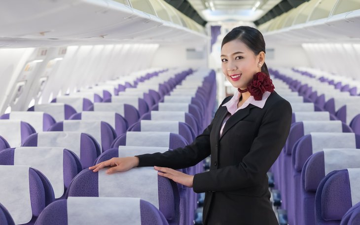 Airplane flight attendant
