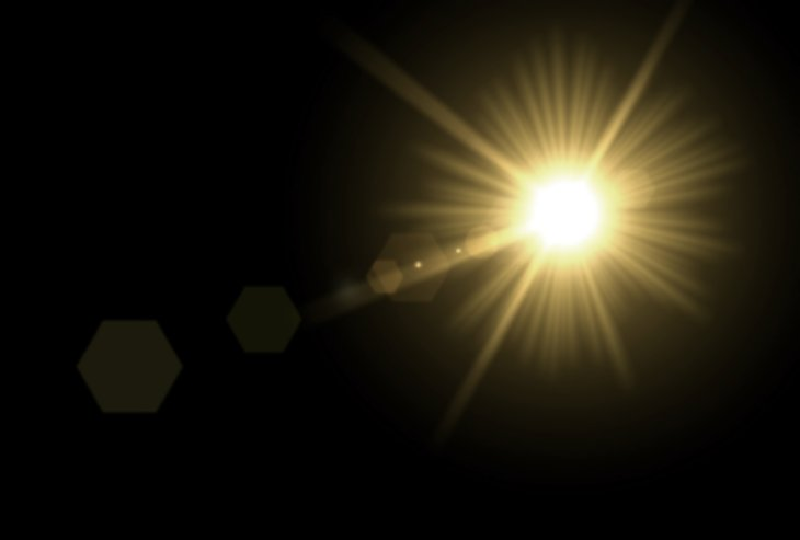 Sun's glare