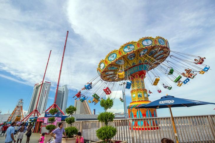 Atlantic City amusement park rides.