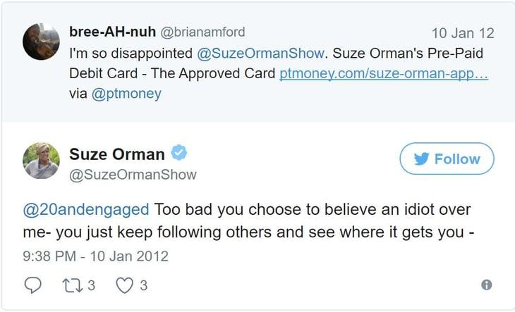 Suze Orman Tweet