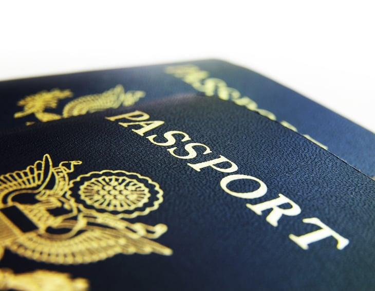 Close-up of U.S. Passports.