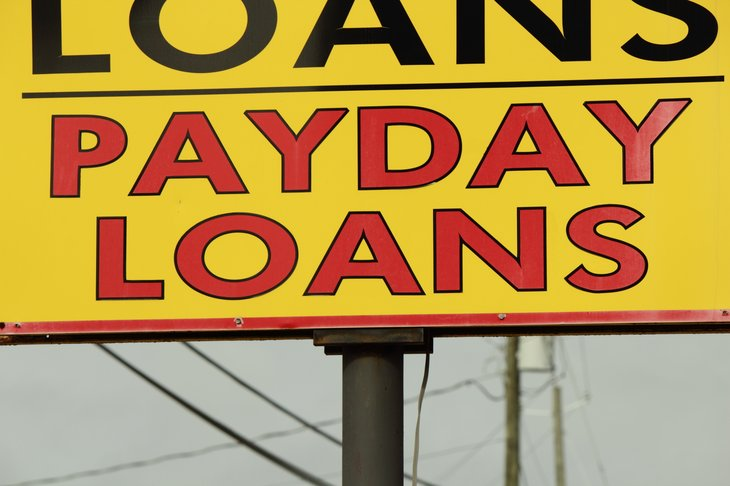 Payday loan sign