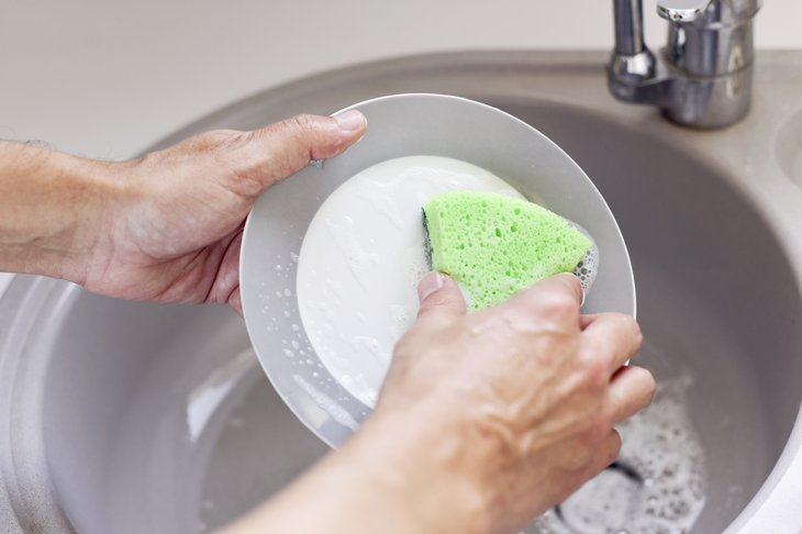 Limpieza con esponja