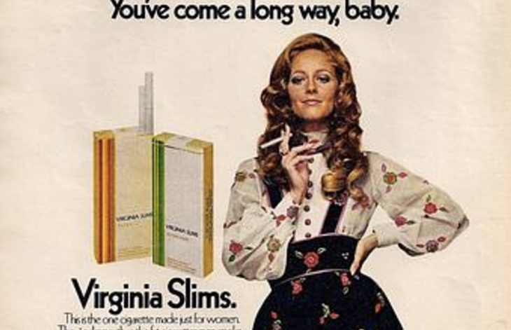 Vintage Virginia Slims ad.
