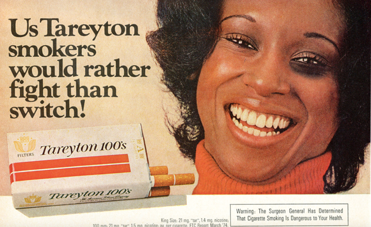 Old Tareyton cigarette ad