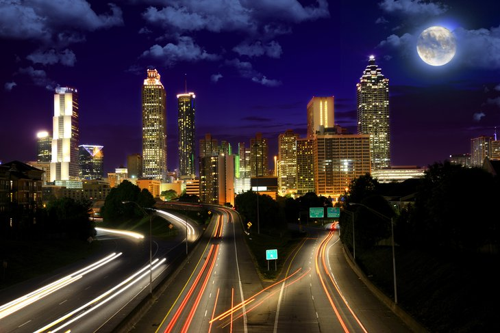 Atlanta at night.