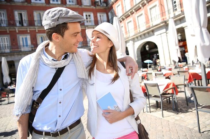 Couple on European vacation