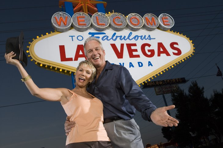 Older couple in Las Vegas