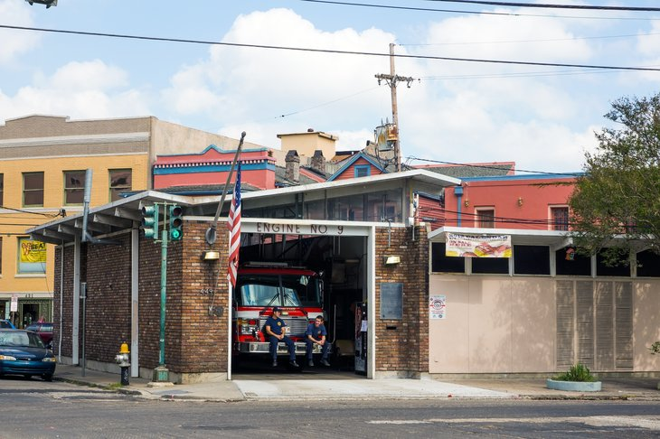 Fire station in New Orleans, Louisiana