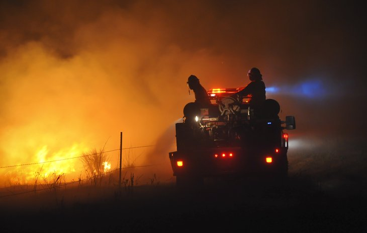 Firefighters in Springview, Nebraska