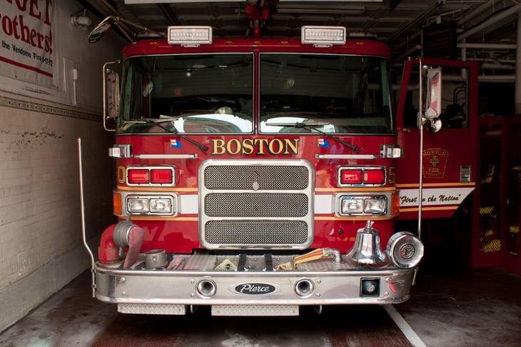 Firetruck in Boston, Massachusetts