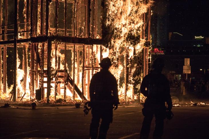 Firefighters in Las Vegas, Nevada