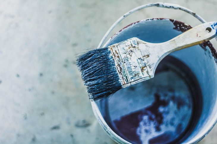 Encrusted paint brush.