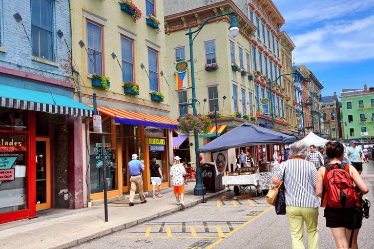 Street scene in Cincinnati, Ohio