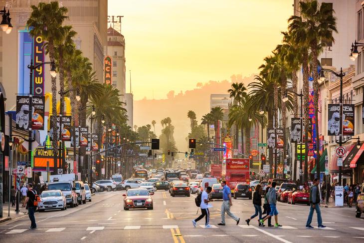Hollywood Boulevard in LA.
