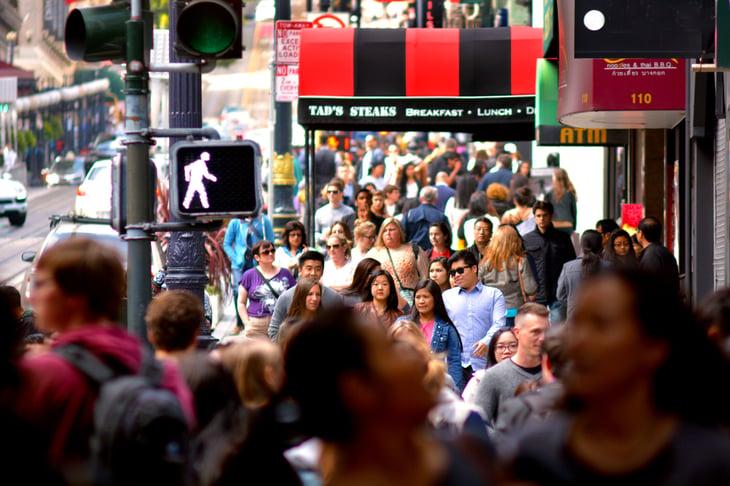San Francisco crowd.