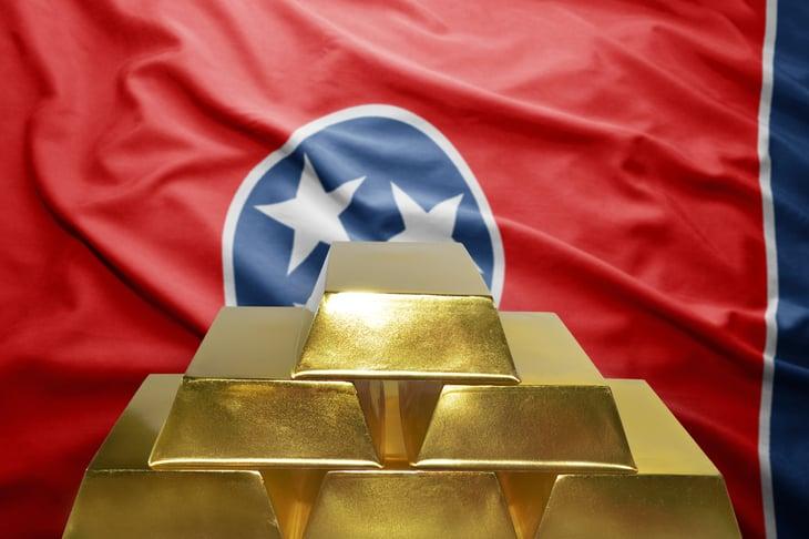 see flag and gold bullion
