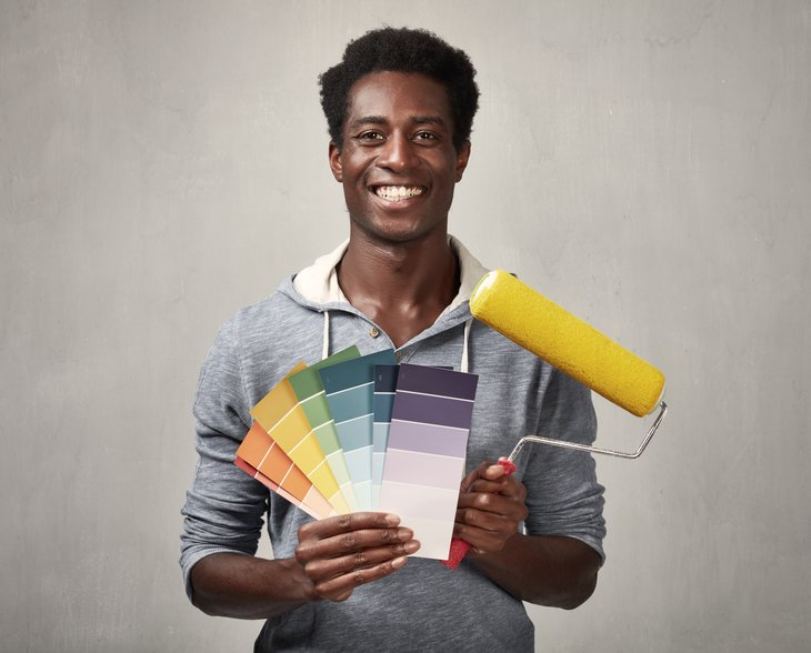Man with paints