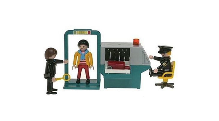 Playmobil security checkpoint screen shot from Amazon