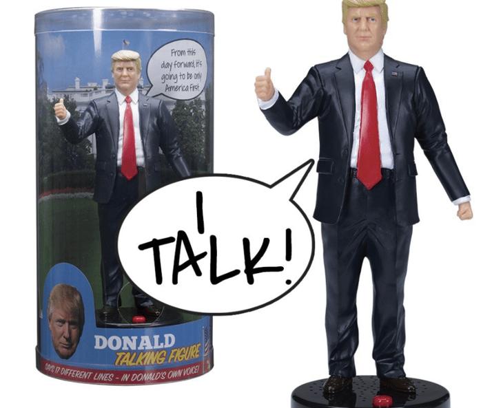 Talking Donald Trump figure.