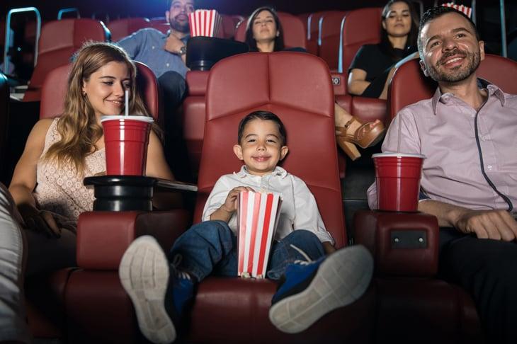 family boy movie theater popcorn family movie hispanic