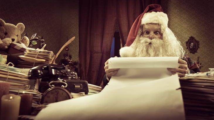 Santa with list.