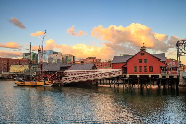 Boston harbor.