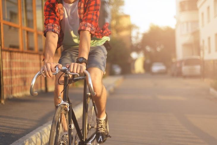 Urban bicyclist