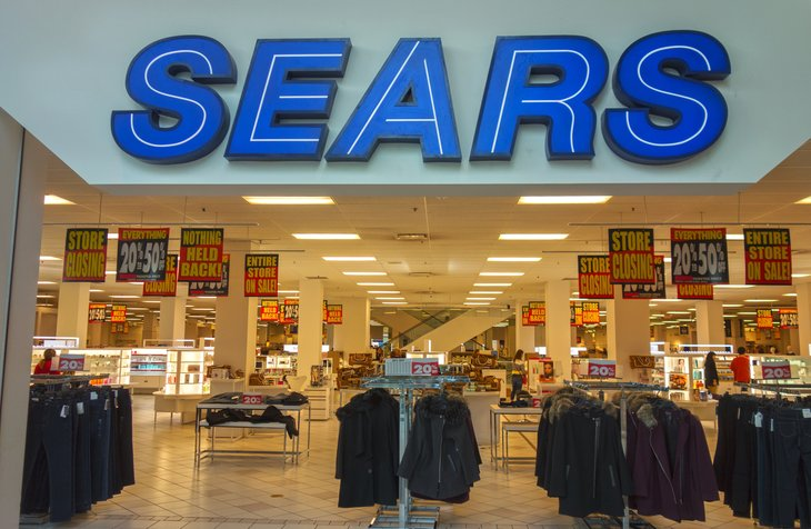 Sears store front in a mall