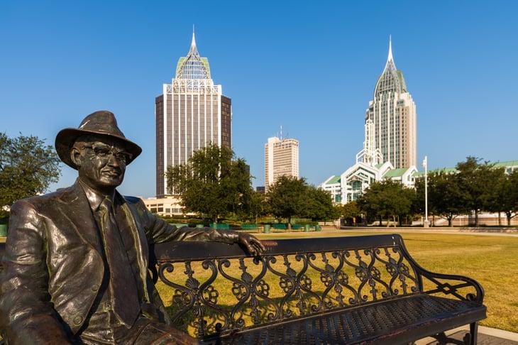City scene from Mobile, Alabama