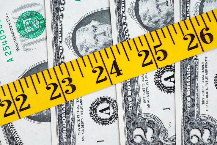 Money and a tape measure