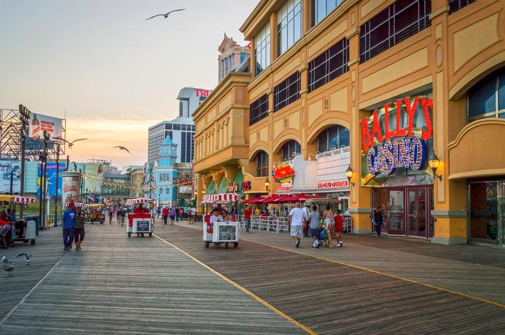 The boardwalk in Atlantic City, New Jersey
