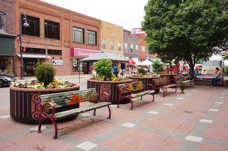 downtown Ames, Iowa