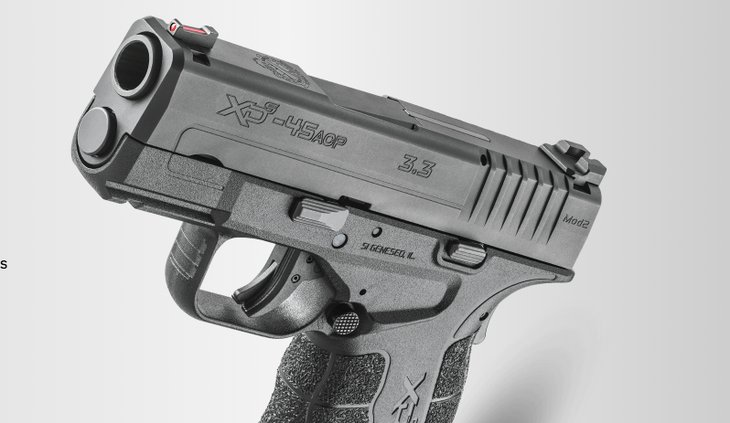 Springfield Armory pistol, screenshot from website.