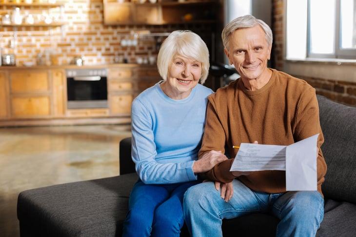 Couple Elderly w Papers