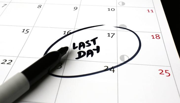 Calendar last day