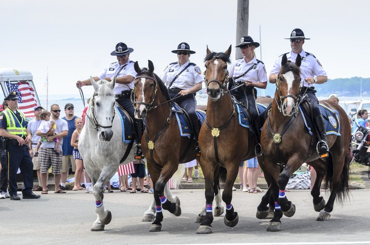Providence police officers in Rhode Island