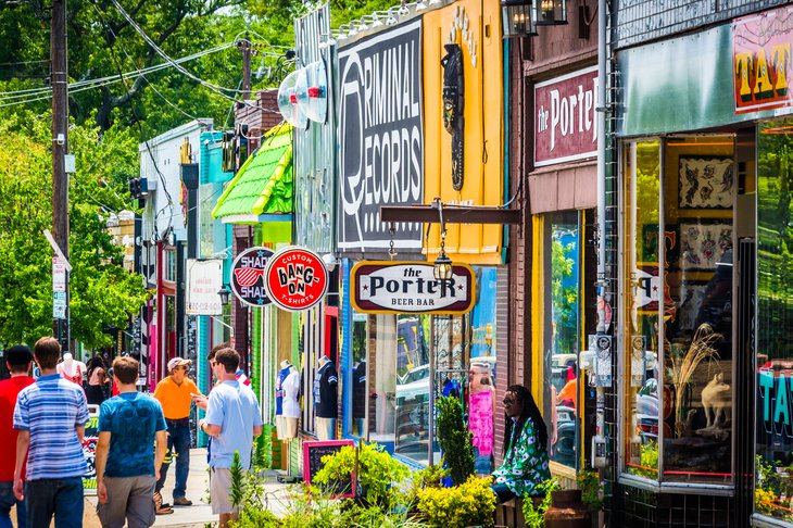 The Little Five Points district in Atlanta, Georgia