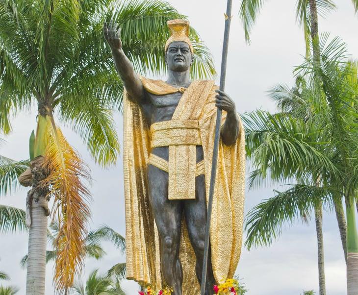 King Kamehameha statue in Hilo, Hawaii