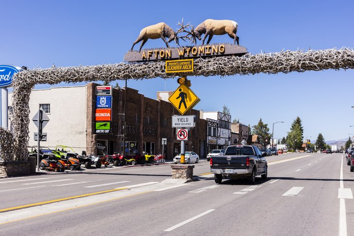 Elkhorn arch in Afton, Wisconsin
