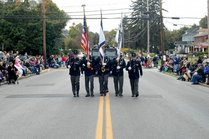 Police honor guard, West Virginia