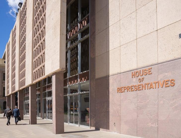 The Arizona House of Representatives in Phoenix