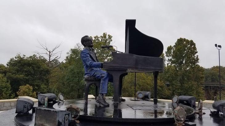 Ray Charles Plaza revolving statue, Albany