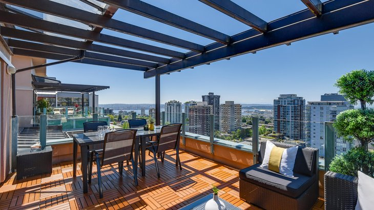 View from a penthouse in Vancouver, Canada