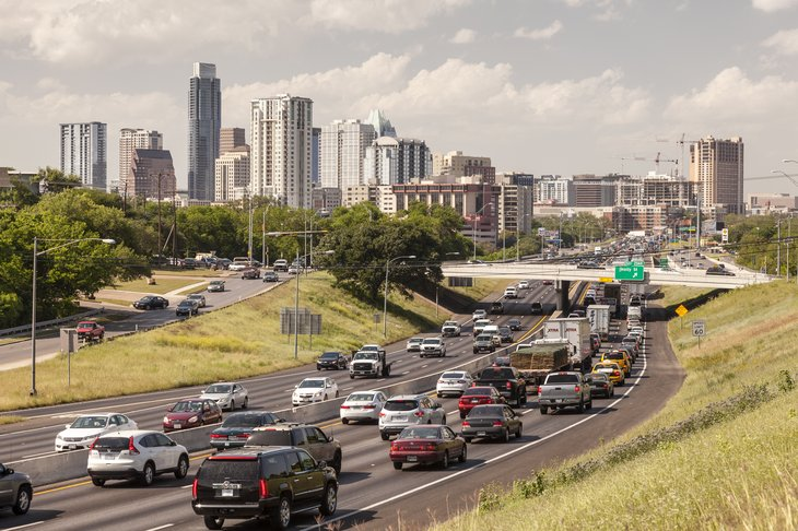 Traffic in Austin, Texas